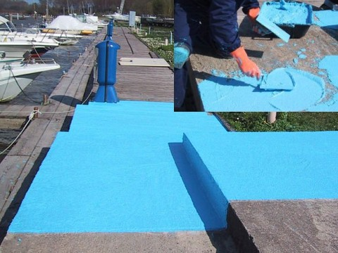 tekutá dlažba bl100 modrá